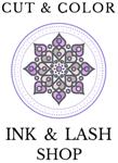 Cut & Color, Ink and Lash Shop Logo
